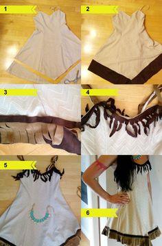 Pocahontas Kostüm -selber-machen-erwachsene-diy-kleid-anleitung