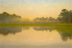 this painting is hanging in the United States Embassy in Dakar Senegal....The Pond....40 x 60 inches...oil on Canvas