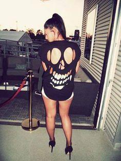 Skull shirt!!  O.O ^.^