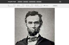 web para hacer imágenes con triángulos
