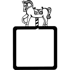 Carousel Horse Frame clipart, cliparts of Carousel Horse Frame free download (wmf, eps, emf, svg, png, gif) formats
