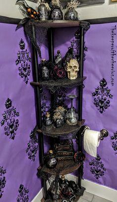 Dark Home Decor, Goth Home Decor, Gothic Room, Gothic House, Tim Burton Stil, Gothic Bathroom Decor, Haunted Mansion Decor, Horror Room, Goth Bedroom