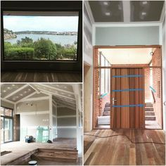 Interiors are shaping up nicely at this refurbishment on the Hopkins River #warrnambool  You are doing a great job Monaghan Constructions! #whataview by formandfunction_buildingdesign