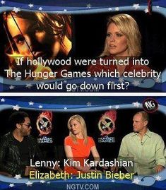 Which celebrity would go down first if Hollywood was The Hunger Games?