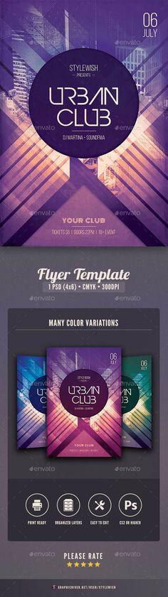 Urban #Club #Flyer #template