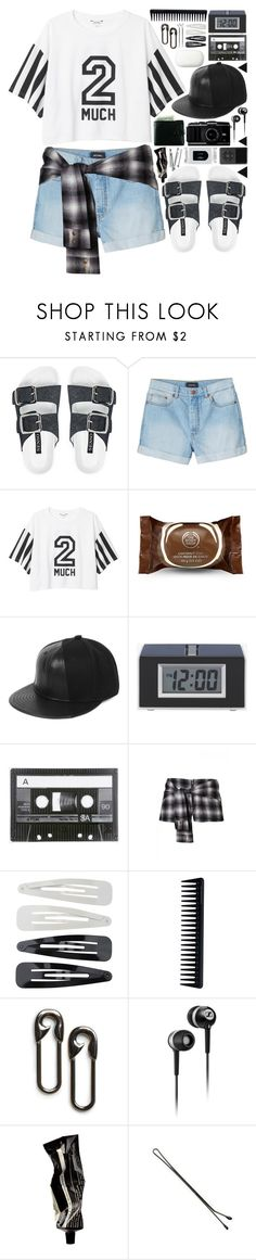 """2 Much"" by dayliant ❤ liked on Polyvore featuring Senso, Monki, The Body Shop, 5cm, Forever 21, GHD, MANGO, Sennheiser, Aesop and BOBBY"
