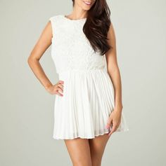 Mini Dress with Pleated Skirt