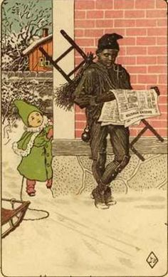 Little Girl and Chimney Sweep Jenny Nystrom