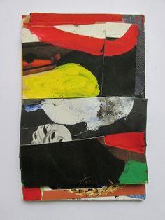 EC, Gabblegobble, collage, gouache on canvas on board, 15 x 10 cm