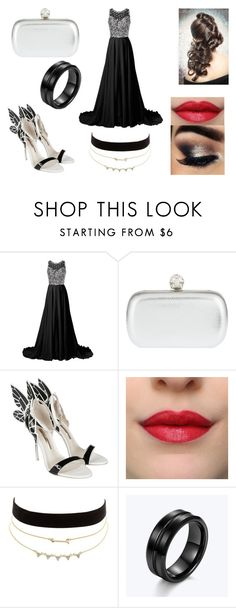 """black and silver"" by sarahmullen-yugioh ❤ liked on Polyvore featuring Alexander McQueen, Sophia Webster and Charlotte Russe"