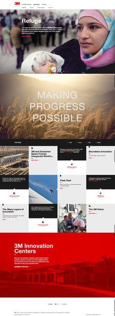 3M Innovation Website by Scott Jesser, via Behance