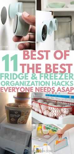 These awesome DIYrefrigerator organization hacks are so simple to do! Extra space on shelves are great for small fridges. Great tips to help it stay clean too! Egg basket idea is so ADORABLE. Icee one genius! #lifehacking #kitchenorganization #homemakingtips