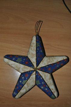 Estrella de navidad. Patchwork sin aguja.