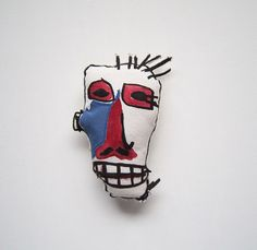 Pop art New York anniversaire cadeau Basquiat visage femme par 3buu