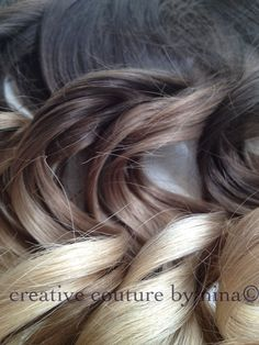 "Ombre Hair Extensions//DipDye//Dark Brown Hair and Wheat Blonde Fade//(7) Pieces//22""//Double Wefted. $220.00, via Etsy."
