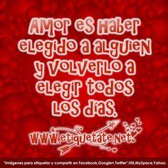 El amor es una decisión!!! ¿Tomas esta decisión todos los días, para tener los resultados que quieres en tu relación de pareja? wwwamoryexito.com Feliz lunes!!!