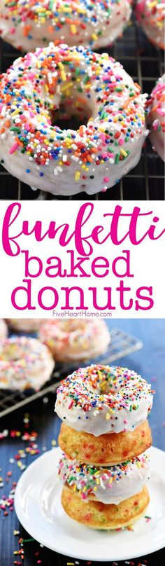 Funfetti Baked Donuts  | Posted By: DebbieNet.com