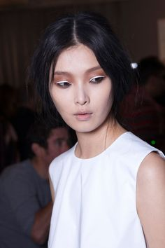 White eyeliner at J. Galliano S/S 2013.