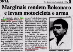 Recorte de jornal antigo mostra que Bolsonaro foi assaltado?