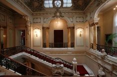 The Art Museum of Craiova is located in Jean Mihail palace – built in late XIX century Romanian People, Art Museum, Palace, Stairs, Architecture, Building, Romania, Arquitetura, Stairway