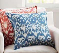 Kantha Embroidered Cushion Cover