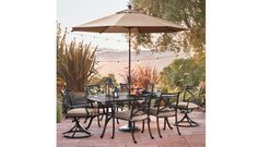 Smith & Hawken metal patio set from Target Outdoor Dining Furniture, Patio Dining, Dining Set, Outdoor Ideas, Outdoor Spaces, Outdoor Decor, Yard Landscaping, Furniture Collection, Table And Chairs