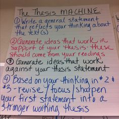 Awesome thesis statements