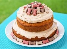 Spoil your favorite pet with this easy to make dog cake recipe.