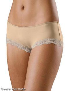 shorty perfect lascana 2015 ivoire, peau et noir http://www.reservoir-mode.com/boutique/collections-lingerie-femme/shorty-femme/shorty-perfect-basic-lascana-p-4565.html