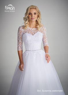 Susanna bol zasłonięte suknia ślubna