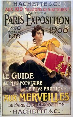 Items similar to Vintage Paris Exhibition Poster France Francois Flemming Edwardian Advertisement Lithograph To Frame on Etsy
