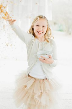Love the tulle Skirts in this color for flower girls
