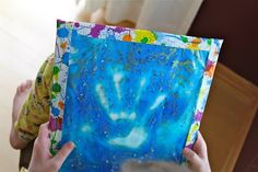 DIY gel boards. Good for practicing writing, drawing, and calming kids-stuff