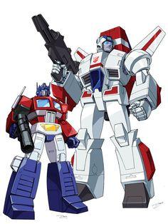 Skyfire and Optimus Prime by ~Dan-the-artguy on deviantART