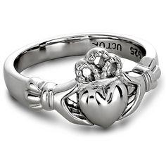 Ladies Silver Claddagh Ring ULS-6163