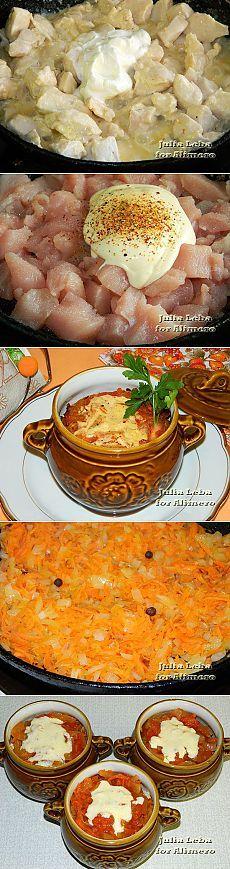 Диетические рецепты в горшочке духовке фото