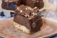 Koolhydraatarme Chocolade Cheesecake met Pecan Crunch - WayMadi Cheese Dip Recipes, Cheese Snacks, Cookie Cake Pie, Cake Cookies, Cookie Recipes, Dessert Recipes, Desserts, Carb Free Recipes, Cake Bars