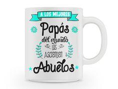 Taza personalizada de regalo para abuelitos, a los mejores papás del mundo las asciende a abuelos