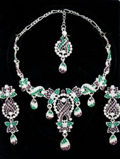Indian Wedding Jewelry Sets White American Diamonds Necklace Set Mogul Interior, http://www.amazon.com/gp/product/B009A5MCBQ/ref=cm_sw_r_pi_alp_ECPuqb13HC0R5