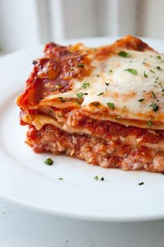 3 cheese lasagna (vegetarian)
