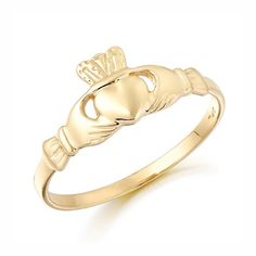 64ffaf5bc This Maids Claddagh Ring in 9 karat Gold is ideal as a pinky ring or for  very slender and delicate fingers. Love, Loyalty & Friendship wrapped up in  a ...