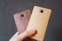 bamboo smartphone prototypes hands-on. Started as a bit of a joke, ended in serious industry interest. I love the design and concept