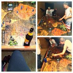 He made the coolest Risk game board.