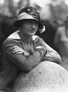 Gabrielle 'Coco' Chanel /1929.  Before she designed clothes, she designed hats.  You can begin to see her individuality in this hat.