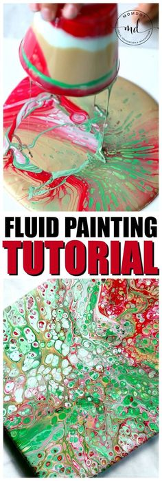 Fluid painting tutorial : Easy to follow step by step acrylic paint tutorial, create 100s of cells, no heat gun, BEST tutorial out there, great for kids