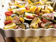Cook Once, Eat All Week: Roasted Vegetables A week of produce-packed dinners to help you eat (and love!) those veggies. RoastedVegetables Leftovers Recipes | Prevention