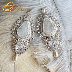 Купить №210  ROYAL IVORY II Свадебные серьги - белый, svarovski, свадебное украшение, свадьба