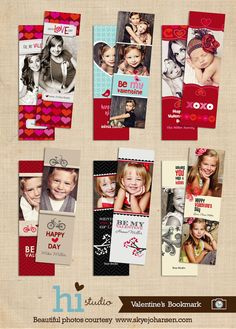 Valentine's bookmarks - WHATEVER these are cute!