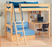 Bunk Bed Desk Combo Plans Downloadable Pdf Boys Room Bedro