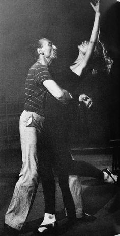 George Balanchine with ballerina and third wife Vera Zorina ca. 1939.